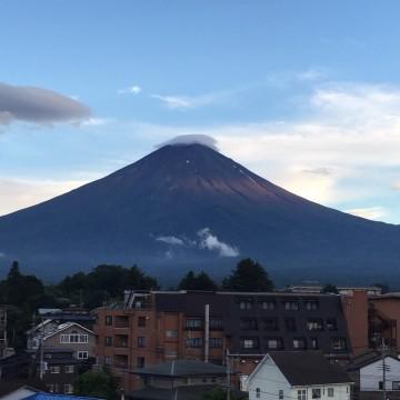 2日目に宿泊したホテルからの富士山!